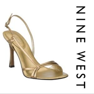 NINE WEST Accolia Dressy Sandals - Bronze
